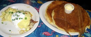 Photo of Loaded Baked Potato Omelette and Gingerbread Pancakes at Magnolia Cafe in Austin, TX