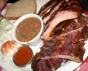 Photo of Mesquite Smoked Baby Back Ribs at Artz Rib House in Austin, TX