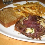 Photo of The Zee Noir Burger at Chez Zee in Austin, TX