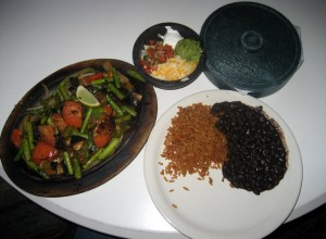 Photo of Vegetarian Fajitas at the Oasis in Austin, TX