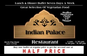 Indian Palace Coupon in Austin, TX