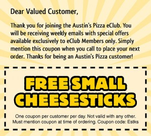 Austin's Pizza Coupon