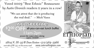 Coupon for Aster's Ethiopian in Austin, TX