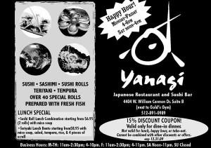 Yanagi Coupon in Austin, TX