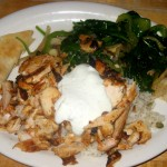 Photo of Spinach and Chicken  at Zorba Greek Restaurant in Round Rock, TX
