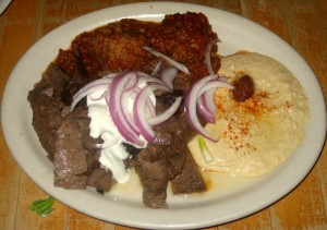 Photo of Gyro Plate at Zorba Greek Restaurant in Round Rock, TX
