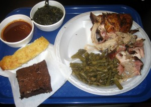 Photo of food at Mann's Smokehouse BBQ in Austin, TX
