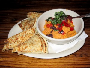 Photo of Roasted Red Pepper Hummus at Apothecary Cafe in Austin, TX