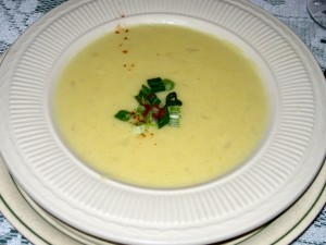Photo of Potato Soup at The Emerald Restaurant in Austin, TX