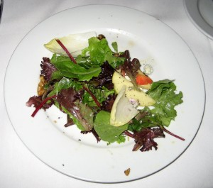Fuji Apple and Beet Salad at Eddie V's in Austin, TX