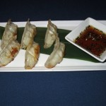 Chicken Gyoza at Afin in Austin, TX