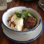 Elizabeth Street Cafe -  Dish 2 (Sticky rice with ginger sausage and poached eggs)
